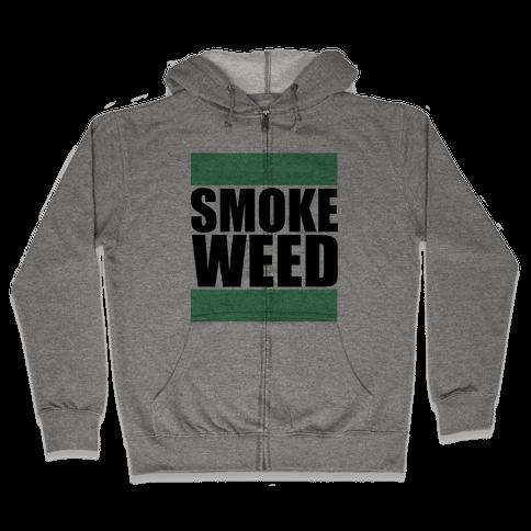 Smoke Weed Zip Hoodie