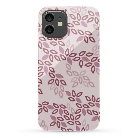 Fun Leaf Pattern Case (Pink) Phone Case