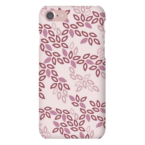Fun Leaf Pattern Case (Pink) Phone Case