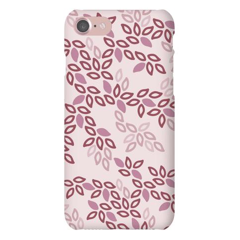 Fun Leaf Pattern Case (Pink)