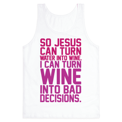 Water Into Wine Tank Top