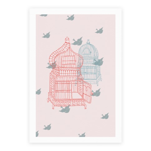 Open Birdcage Poster