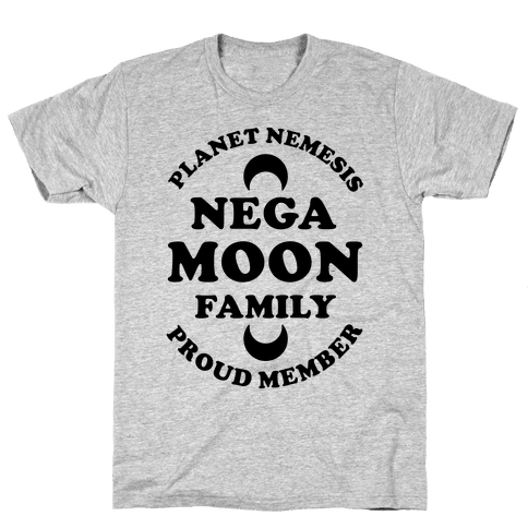 Negamoon Family Proud Member Mens T-Shirt