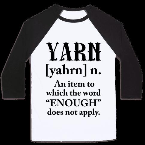 Yarn Definition Baseball Tee