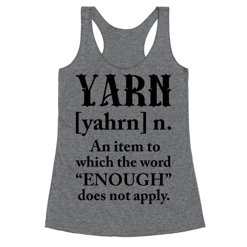 Yarn Definition Racerback Tank Top