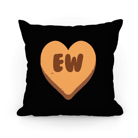 Valentine's Day Heart Ew Pillow Pillow