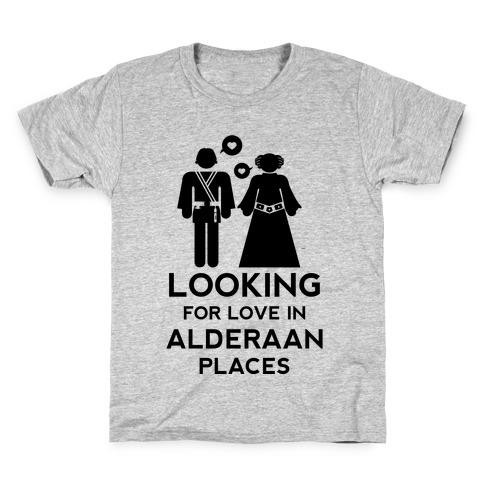 Looking for Love in Alderaan Places Kids T-Shirt