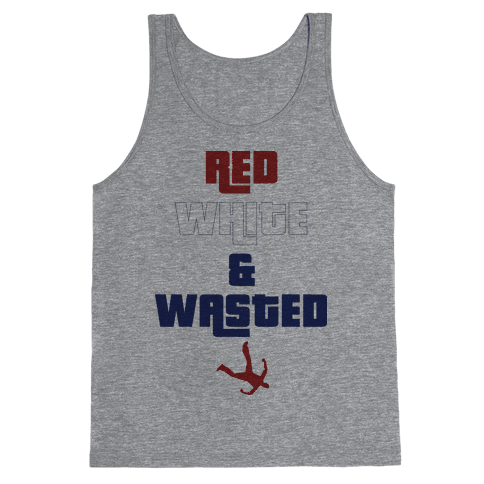 Red White & Wasted Tank Top
