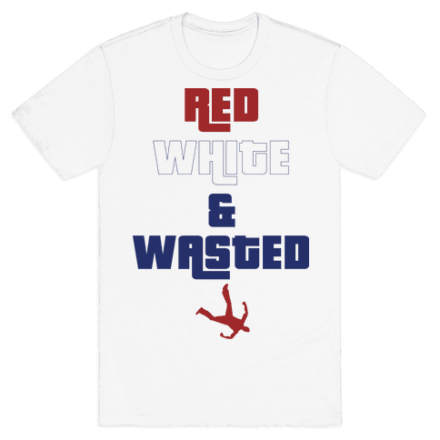 Red White & Wasted Mens T-Shirt