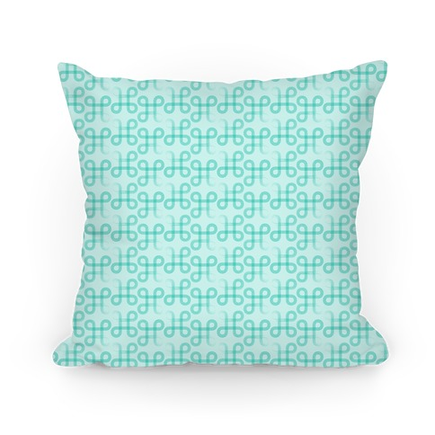 Teal Geometric Loop Pattern Pillow