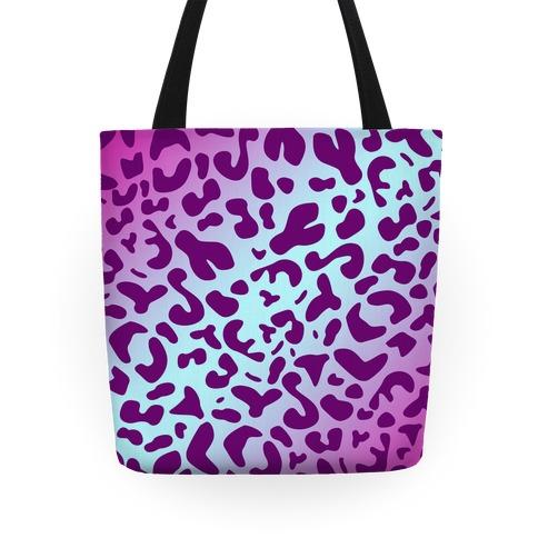 Purple Leopard Print Tote