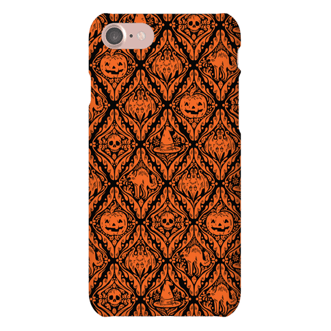 Spooky Vintage Halloween Pattern Phone Case