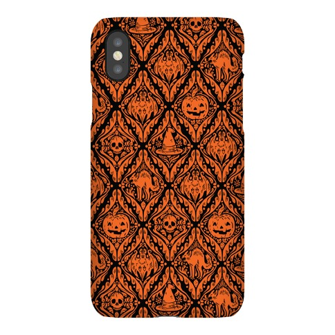 Spooky Vintage Halloween Pattern Phone Case