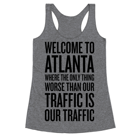 Atlanta Traffic Racerback Tank Top