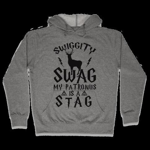 Swiggity Swag My Patronus Is A Stag Hooded Sweatshirt