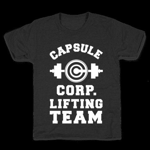 Capsule Corp. Lifting Team Kids T-Shirt