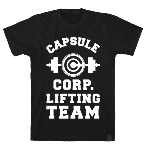 Capsule Corp. Lifting Team Mens T-Shirt