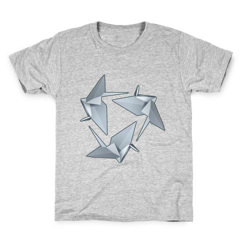 Origami Paper Crane Kids T-Shirt
