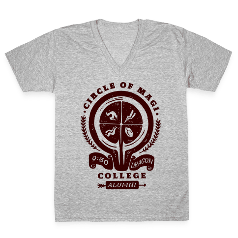 College of Magi Alumni V-Neck Tee Shirt