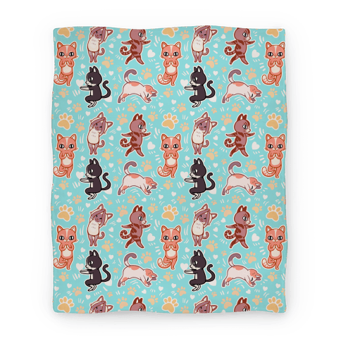 Yoga Cats Blanket