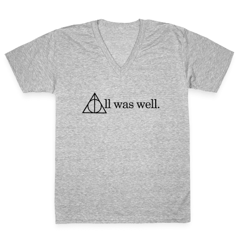 All Was Well V-Neck Tee Shirt