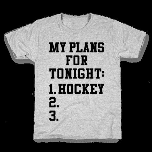 Hockey Plans Kids T-Shirt