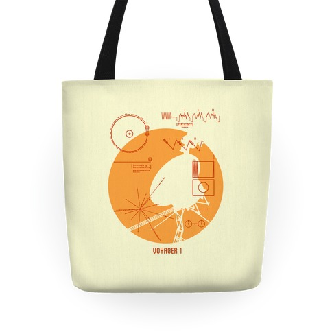 Retro Voyager 1 Golden Record Tote