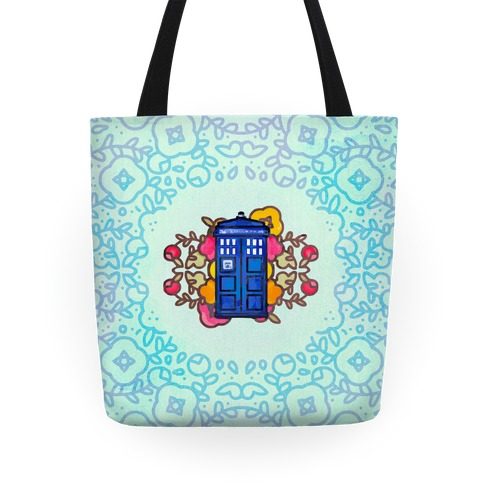 Watercolor Doctor Who Icon (Tardis) Tote