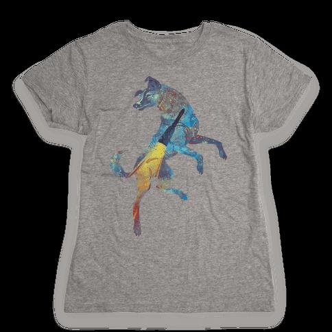 Astronaut Dog Laika Womens T-Shirt