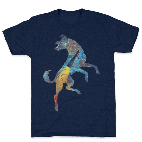 Astronaut Dog Laika Mens T-Shirt