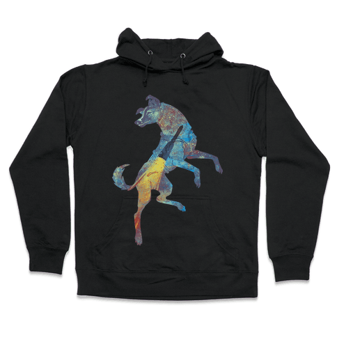 Astronaut Dog Laika Hooded Sweatshirt