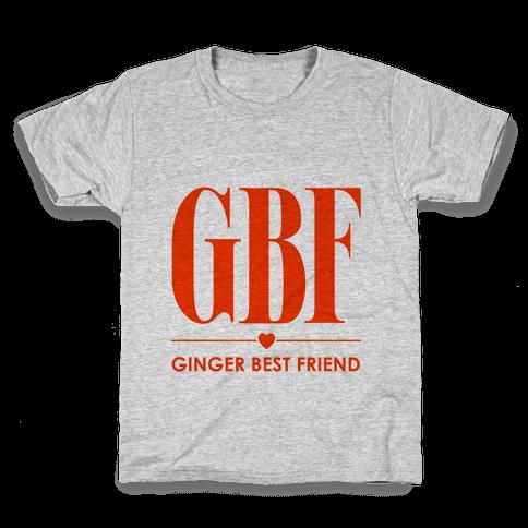 Ginger Best Friend (GBF) Kids T-Shirt