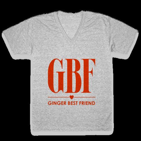 Ginger Best Friend (GBF) V-Neck Tee Shirt
