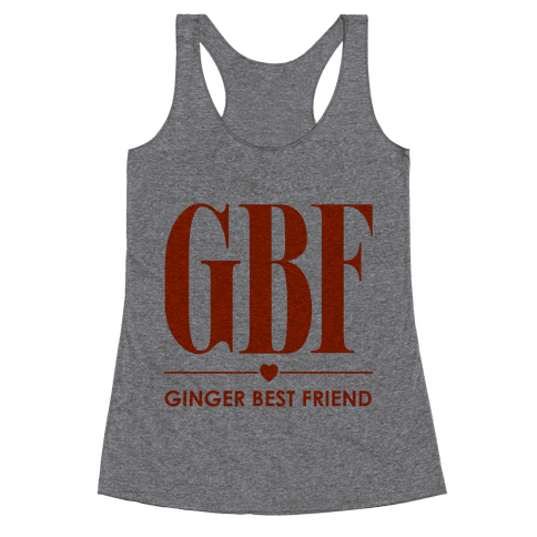 Ginger Best Friend (GBF) Racerback Tank Top