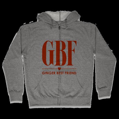 Ginger Best Friend (GBF) Zip Hoodie
