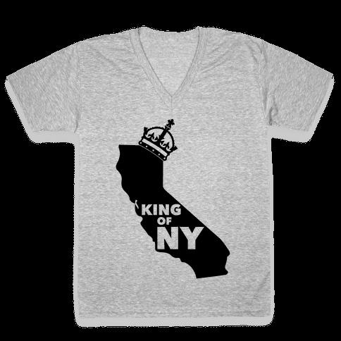 King Of New York V-Neck Tee Shirt
