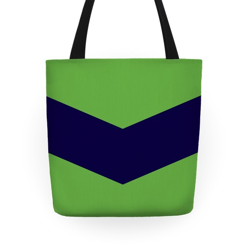 Navy and Green Chevron Tote Tote