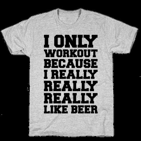 Beer Workout Mens T-Shirt