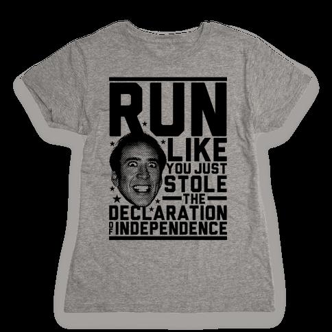 Run Like Nick Cage Womens T-Shirt