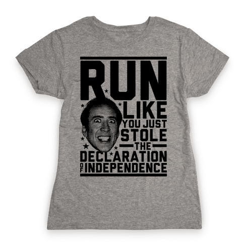 Run Like Nick Cage Womens T-Shirt