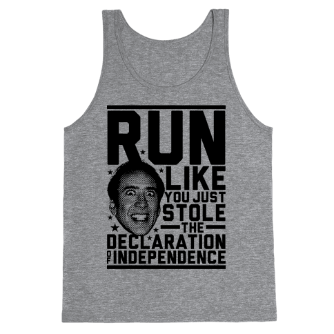 Run Like Nick Cage Tank Top