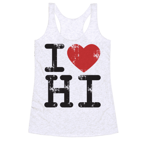 I Love Hawaii Racerback Tank Top