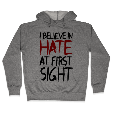 I Believe In Hate At First Sight Hooded Sweatshirt
