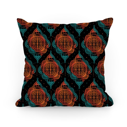 Rangoli Inspiration Pattern Pillow