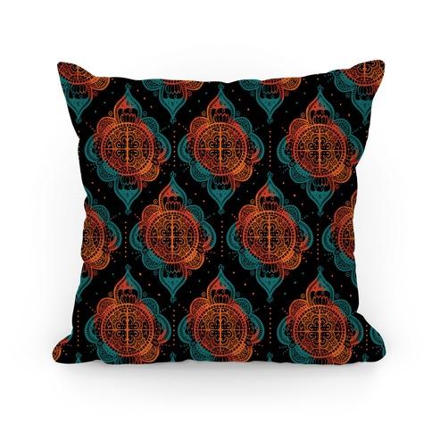 Rangoli Inspiration Pattern Pillow