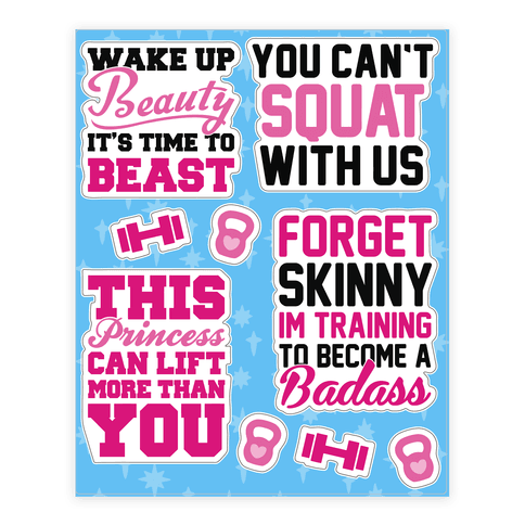 Sassy Girl Fitness  Sticker/Decal Sheet