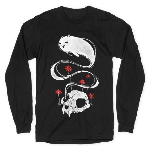 Cat Ghost Long Sleeve T-Shirt