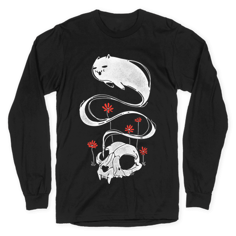 Cat Ghost Long Sleeve T-Shirt