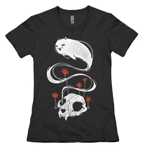 Cat Ghost Womens T-Shirt