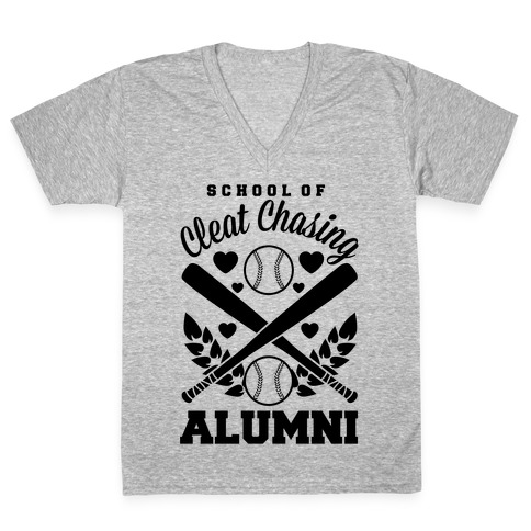 School Of Cleat Chasing Alumni V-Neck Tee Shirt
